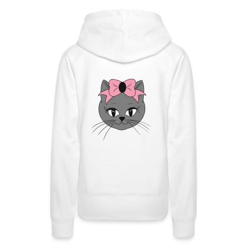 Meww Kitty Cat Hoodie - Premium hettegenser for kvinner