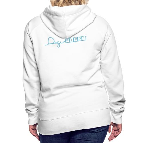 DP Logo Blue - Dame Premium hættetrøje