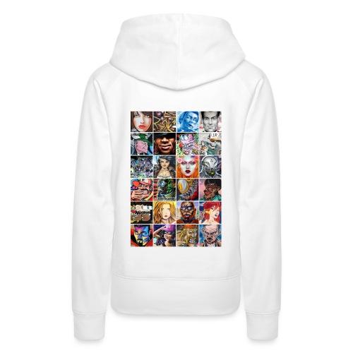 Graffiti Characters Design - Sweat-shirt à capuche Premium pour femmes