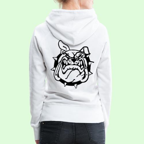 Bulldog souriant - Sweat-shirt à capuche Premium pour femmes