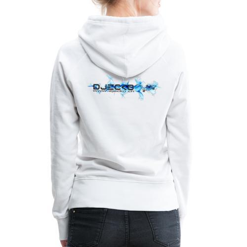 logo wave bleu fond blanc - Sweat-shirt à capuche Premium pour femmes