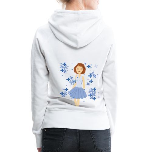 Bloemenmeisje - Sweat-shirt à capuche Premium pour femmes