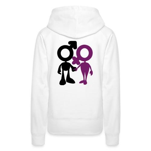 mujer y hombre - Sudadera con capucha premium para mujer