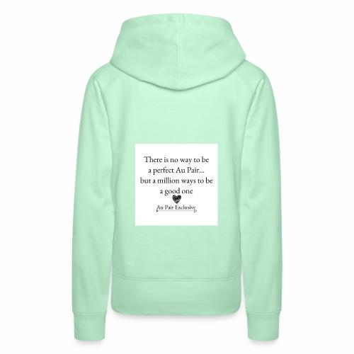 Perfect au pair - Vrouwen Premium hoodie