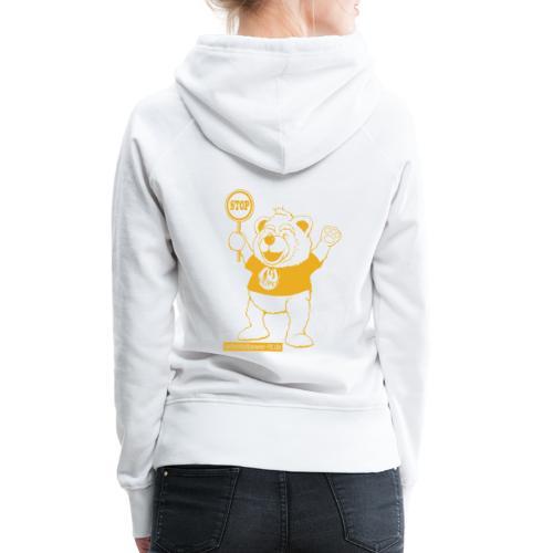 FUPO der Bär. Druckfarbe Orange - Frauen Premium Hoodie