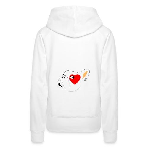 Bouli Blanc - Sweat-shirt à capuche Premium pour femmes