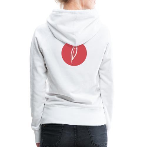 Logo - Rond rouge (dos) - Sweat-shirt à capuche Premium pour femmes