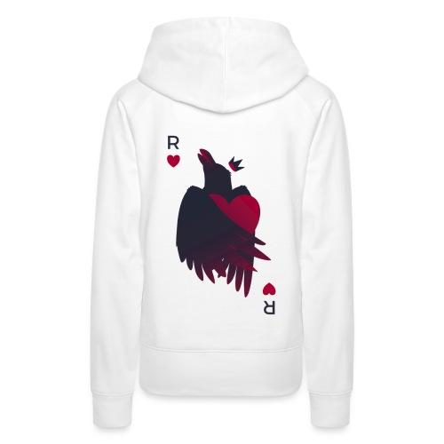 Raven Heart - Crow King - Sweat-shirt à capuche Premium pour femmes
