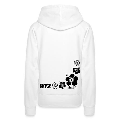 972 hibiscus2 - Sweat-shirt à capuche Premium pour femmes