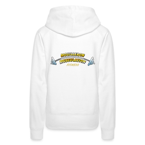 mouilleron muscu logo pour tee shirt 311 - Sweat-shirt à capuche Premium pour femmes