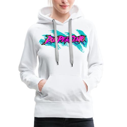 DuePerCento 90s - Felpa con cappuccio premium da donna