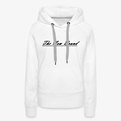 The New Brand logo black on white - Vrouwen Premium hoodie