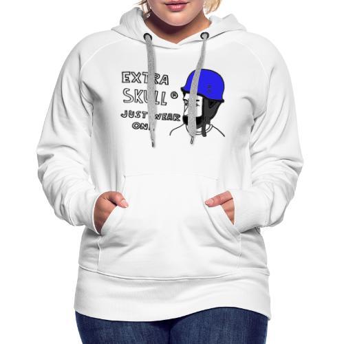EXTRA SKULL - Vrouwen Premium hoodie