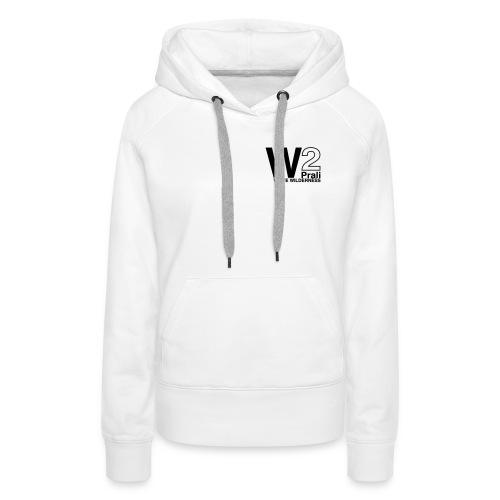 logo black ww2 - Felpa con cappuccio premium da donna