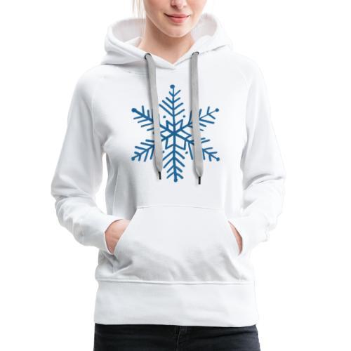 flocon de neige bleu - Sweat-shirt à capuche Premium pour femmes