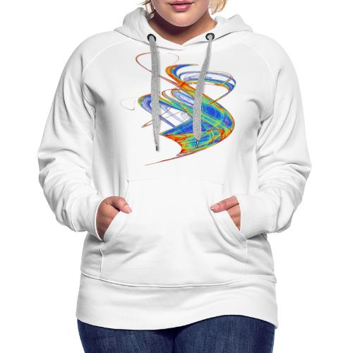 Watercolor art graphic painting picture chaos 13720 jet - Women's Premium Hoodie