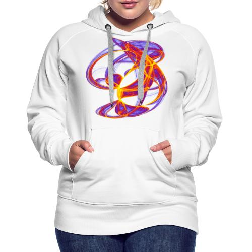 Play of colors of the Clifford-Bahnen watercolor 7839bry - Women's Premium Hoodie