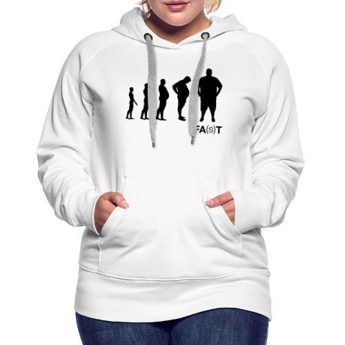 FA(S)T evolution - Felpa con cappuccio premium da donna
