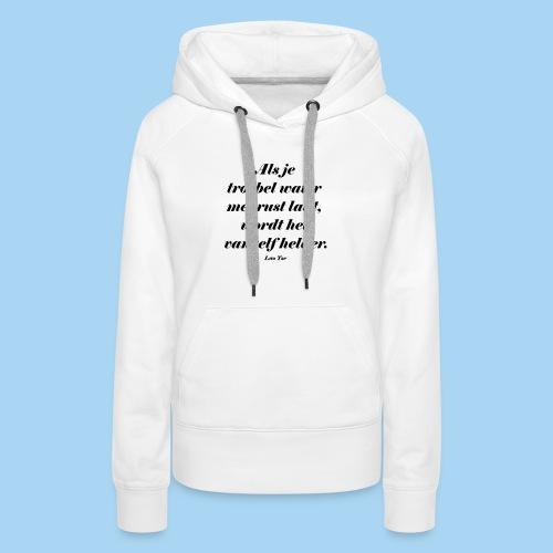Troebel water - Vrouwen Premium hoodie