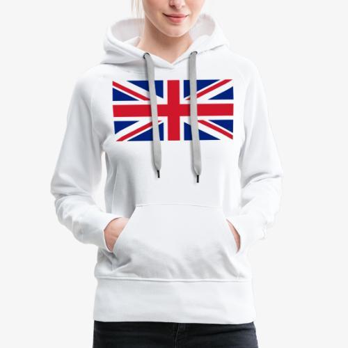 FLAG OF U.K. - Felpa con cappuccio premium da donna