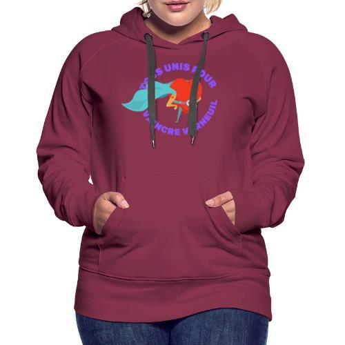 Tous Unis pour Vaincre verneuil violet - Sweat-shirt à capuche Premium pour femmes