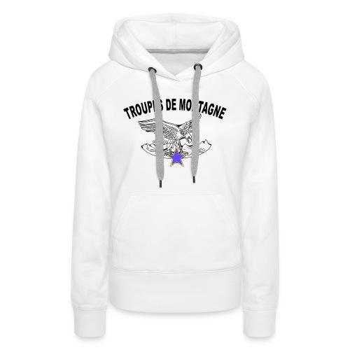 choucasTDM dos - Sweat-shirt à capuche Premium pour femmes