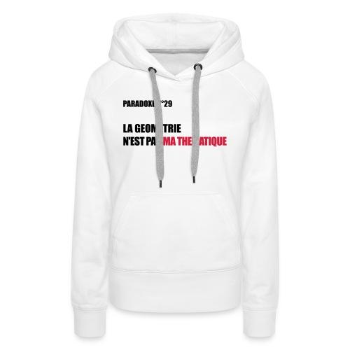 PARADOXE geometrie - Sweat-shirt à capuche Premium pour femmes