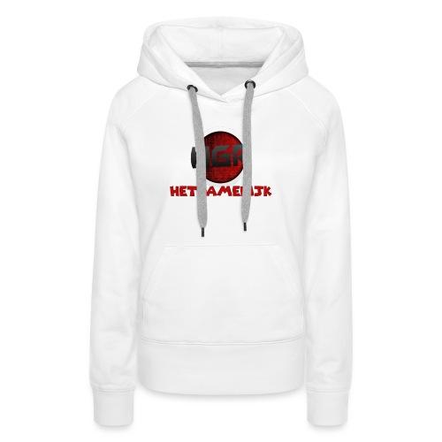 HetGameRijk logo + tekst - Vrouwen Premium hoodie
