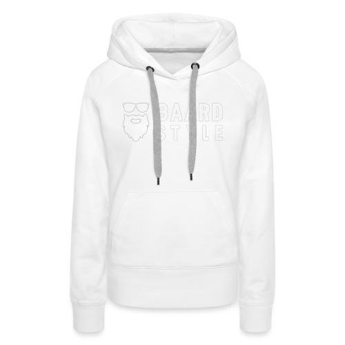 BaardStyle_1-white hoodie - Vrouwen Premium hoodie