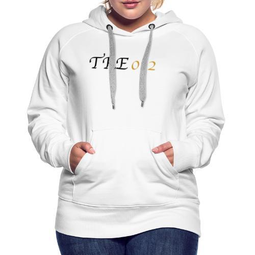 TRE012 - Felpa con cappuccio premium da donna
