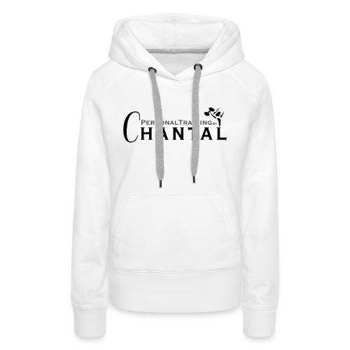 Logo Chantal xtra zwart png - Vrouwen Premium hoodie