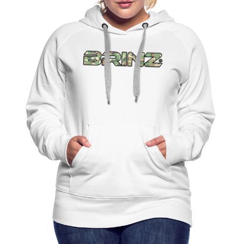 BRINZ Militare - Felpa con cappuccio premium da donna