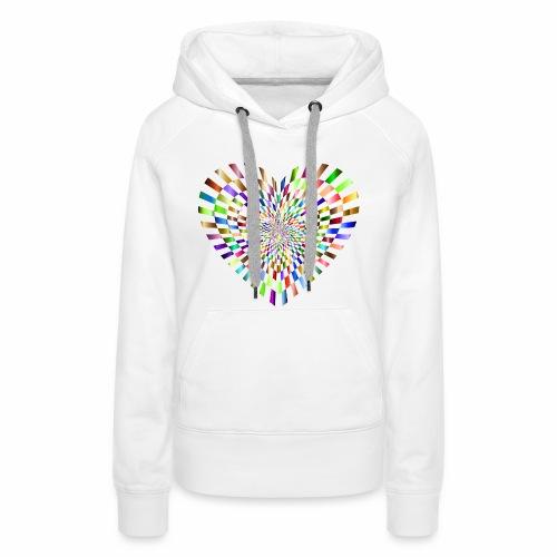 illusion heart colour - Women's Premium Hoodie
