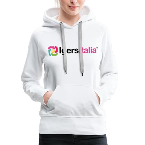 IgersItalia - Colori - Felpa con cappuccio premium da donna