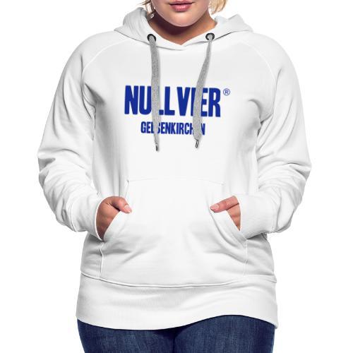 NULLVIER BLUE - Frauen Premium Hoodie