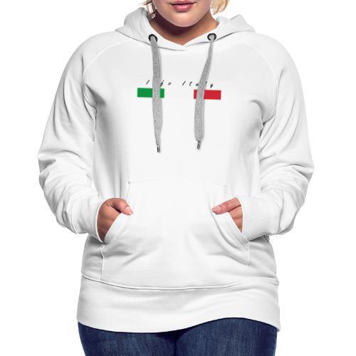Info Italy Design - Felpa con cappuccio premium da donna