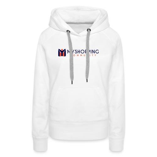 logo MYSC - Felpa con cappuccio premium da donna