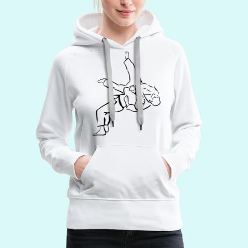 judo - Sweat-shirt à capuche Premium pour femmes
