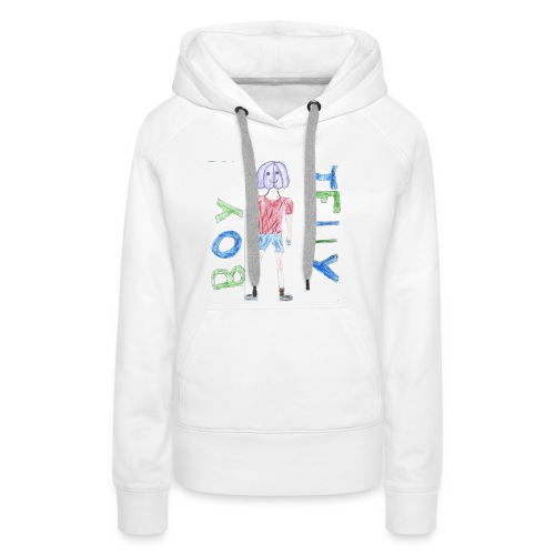 Awesome drawing made by: 'Anonymous' - Women's Premium Hoodie