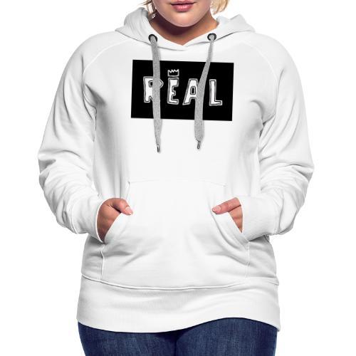 REAL (Black & White) - Vrouwen Premium hoodie