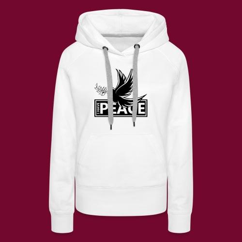 I Have Peace Black - Women's Premium Hoodie