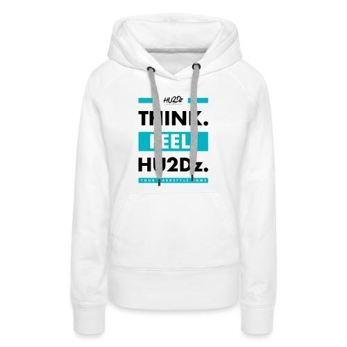 THINK FEEL HU2Dz Black White Shirt - Vrouwen Premium hoodie
