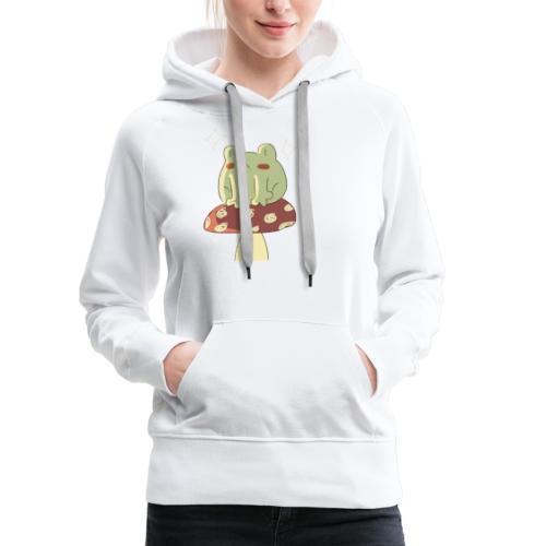 Sitting froggie - Sudadera con capucha premium para mujer