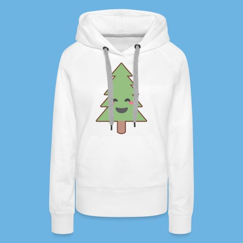 Kawaii Christmas Tree - Women's Premium Hoodie