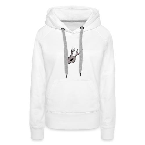 skull alone png - Sweat-shirt à capuche Premium pour femmes