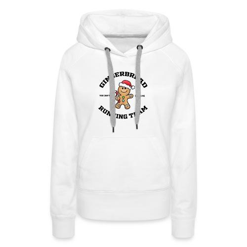 gingerbread running team - Women's Premium Hoodie