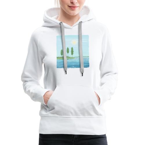 zomertijd - Sweat-shirt à capuche Premium pour femmes