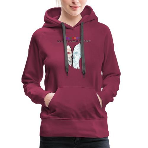 Guerrière dans un combat invisible 02 - Sweat-shirt à capuche Premium pour femmes