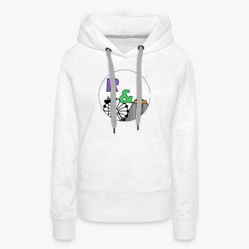 *Limited Edition* Robin & Thomas Merch Zwart - Vrouwen Premium hoodie