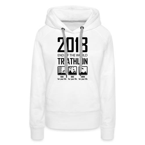 2018 End of the World Triathlon - Vrouwen Premium hoodie
